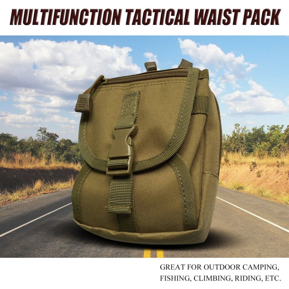 Tactical Bag Multi-Purpose Tools Holder Bag Tactical Waist Pack Zipper Key Phone Pack Outdoor Sports Bag Camping Hiking Pouch стоимость