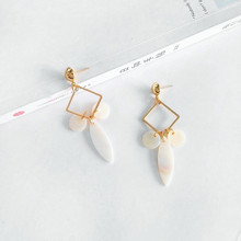 Fashion natural shells Ear ear clip earrings gold and silver male girls gift 99K womens fashion