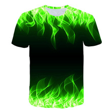 Summer 2019 New European and American Mens 3D T-shirt Sports Wind Printing Short Sleeve S-5XL