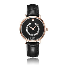 YADAN-8053, women's watch, calendar precision waterproof, high-end brand wrist watch, quartz watch, fashion belt casual watch