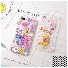 Cute Cartoon Winnie Poohs Stitch Soft TPU Case For iPhone XS XR MAX Transparent X 6 6S 7 8 Plus