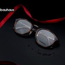 Bauhaus 2018 Mais Novo Do Vintage Lente Clara Óculos de Armação Mulheres  Homens Moda Retro Unissex e0c8da9196