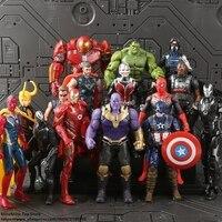 ZXZ Marvel Avengers Hulk Thor Captain America Spiderman Thanos Iron Man Action Figure Anime Collection Figurine Toy model