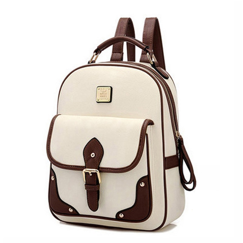 2017 New PU Leather Women Backpack Casual School Bags For Teenagers Girls Travel BackPacks High Quality Shoulders Bag high quality pu leather backpack women bag fashion solid backpacks school bags famous brand travel backpack 2017 new shell bags