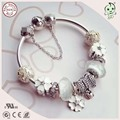 New Arrival 925 Sterling Silver Bowknot Clasp Bracelet With White Series Different Design Silver Charms