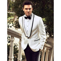 2017 Latest Designs Casual Mens Suits Tuxedos For Men Wedding Suits For Men (Jacket+Pants) Groomsmen Groom Suit Twinset Regular