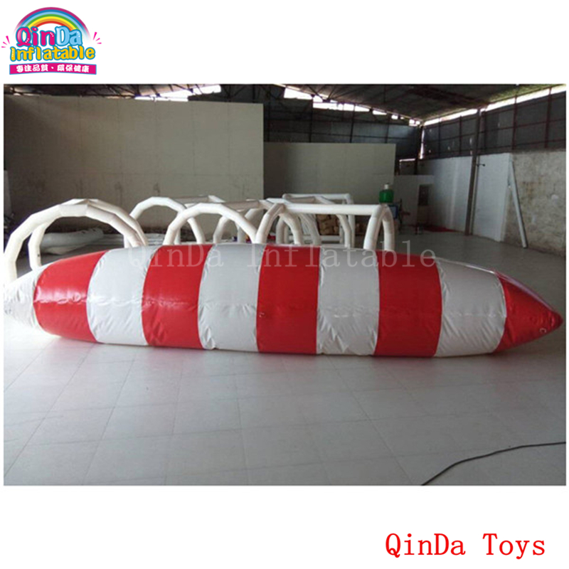 6m big water toys inflatable pillow,free air pump inflatable water jumping blob for entertainment funny summer inflatable water games inflatable bounce water slide with stairs and blowers