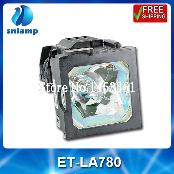 Replacement projector bulb lamp with housing ET-LA780 for PT-L750 PT-L780 PT-L780NT PT-LP1X100 PT-LP1X200NT PT-L750 projector lamp bulb et lab80 etlab80 for panasonic pt lb75 pt lb80 pt lw80ntu pt lb75ea pt lb75nt with housing
