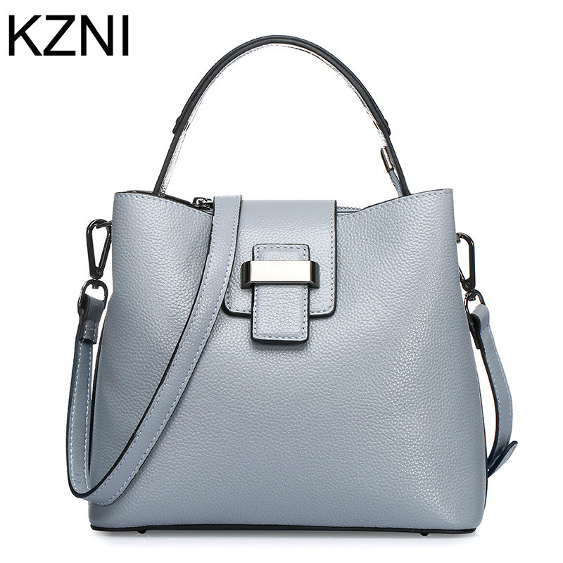 KZNI Genuine Leather Purse Crossbody Shoulder Women Bag Clutch Female Handbags Sac a Main Femme De Marque L121007 hobos bags handbags women famous brand female high quality leather shoulder bag women crossbody bag sac a main femme de marque