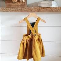 EnkeliBB Sweet Girls Winter Skirt Children Spring Jumper skirt Kids Suspender Tutu Skirts Corduroy Fabric Cute Clothes For Girl