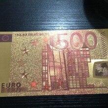 1 шт. евро 500 золотая бумага для банкнот Европейский цветной детектор банкнот домашний Рождественский подарок золотые банкноты