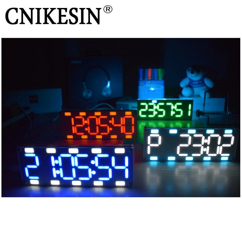 CNIKESIN DIY 6 Digit LED Großen Bildschirm Zwei-Farbe Digital Rohr Desktop-Uhr Kit Touch Control