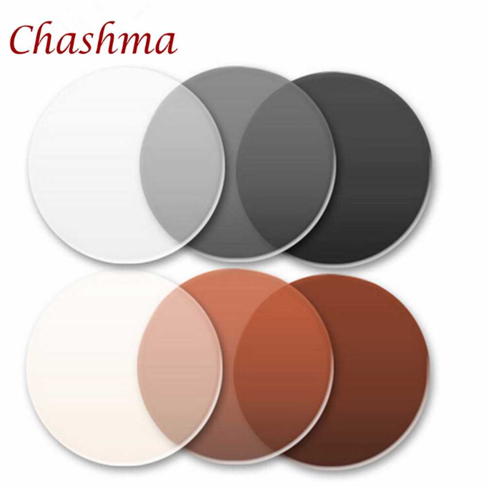 9b64e74309f66 Chashma Marca 1.56 Índice Photochromic Vidro Anti UV Reflexivo Anti Scratch  Lentes de Transição