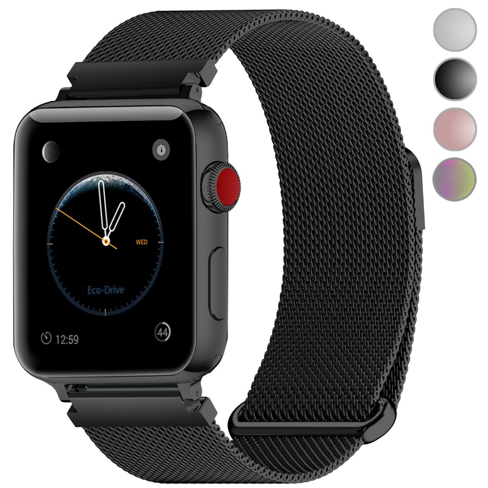 4 Colors of Apple Watch Band 38mm 40mm 42mm 44mm, Fullmosa Milanese Mesh  iWatch Strap for Apple Watch Bands Series 5 4 3 2 1