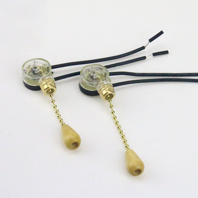 Wall Pull Chain Switch Device For Diy Pendant Light Sconce Chandelier Ceiling Lamp Base Lighting