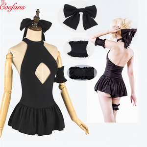 Saber Fate co Cos Saber Clothes Anime Fate Grand Cosplay Costume Swimsuit for Girls black Sexy Bodysuit Women Swimming Swimwear