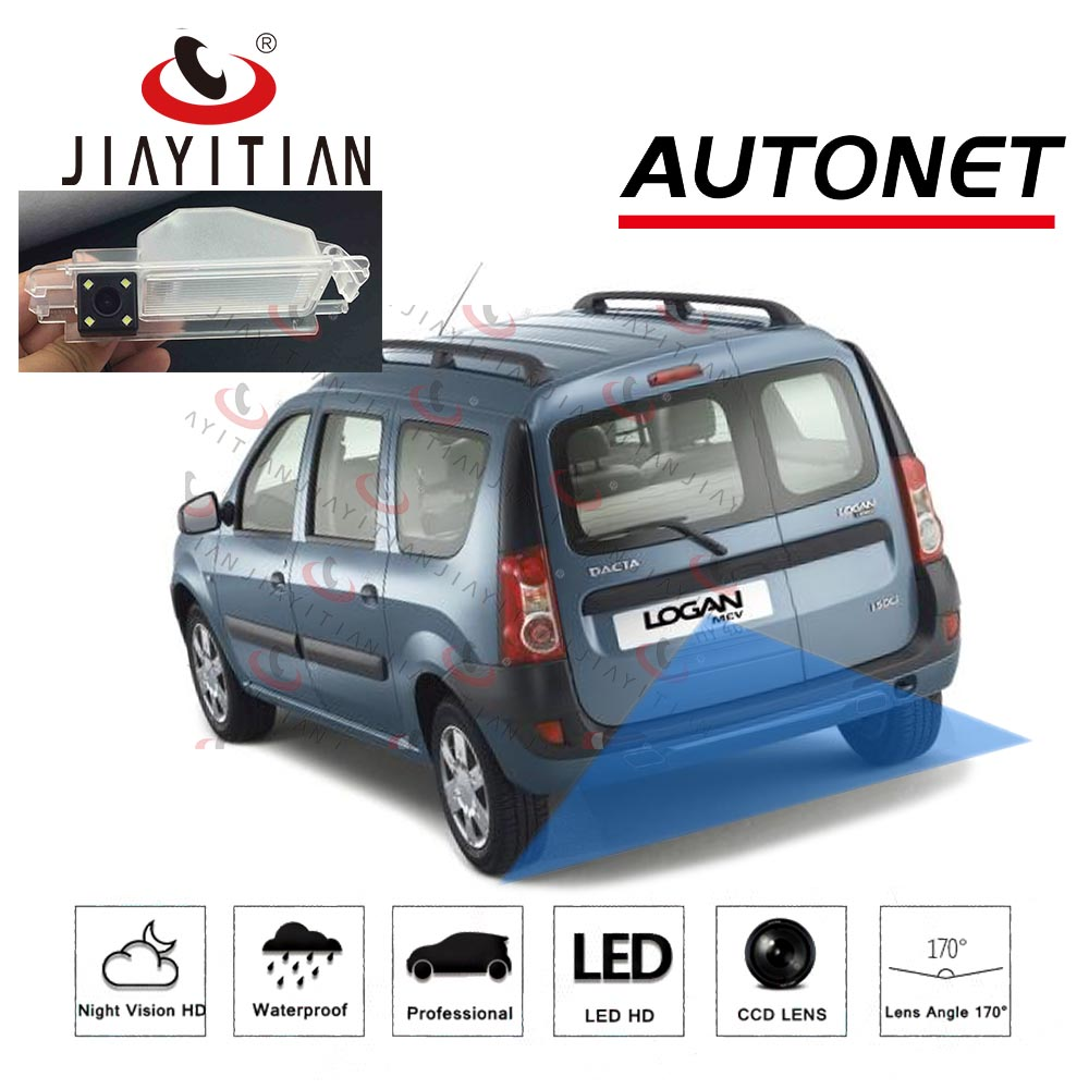JiaYiTian Rear View Camera For Dacia Logan MCV KS Universal VAN 2004~2012 CCD Backup Camera Reverse Camera License Plate Camera