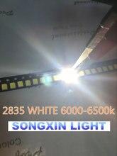 (1000 pçs/lote) 2835 White LED SMD 2835 Pacote (0.2W) Visível DIODO EMISSOR de LUZ, Iluminação led, de baixa potência/sob 0.5W ,PLCC-2