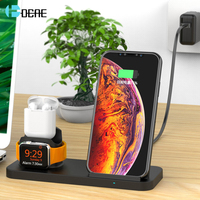 DCAE 10W 3 in 1 QI Wireless Charger For iPhone X XS Max XR 8 Samsung S9 S8 Fast Charging Dock Pad For Apple Watch 4 3 2 Airpods