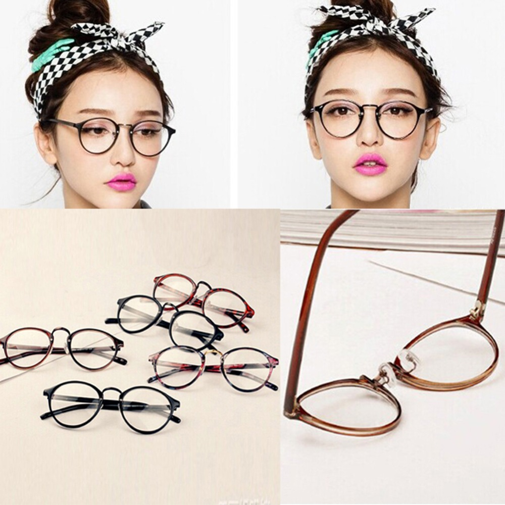 Men Women Nerd Glasses Clear Lens Eyewear Unisex Retro Eyeglasses Spectacles