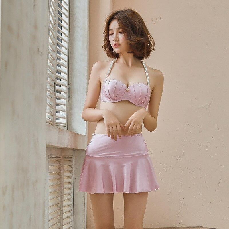 0a0ae941f6 WackDaria sexy bikini set skirt women swimsuit swimwear wome maillot de  bian femma mermiad pearl shape