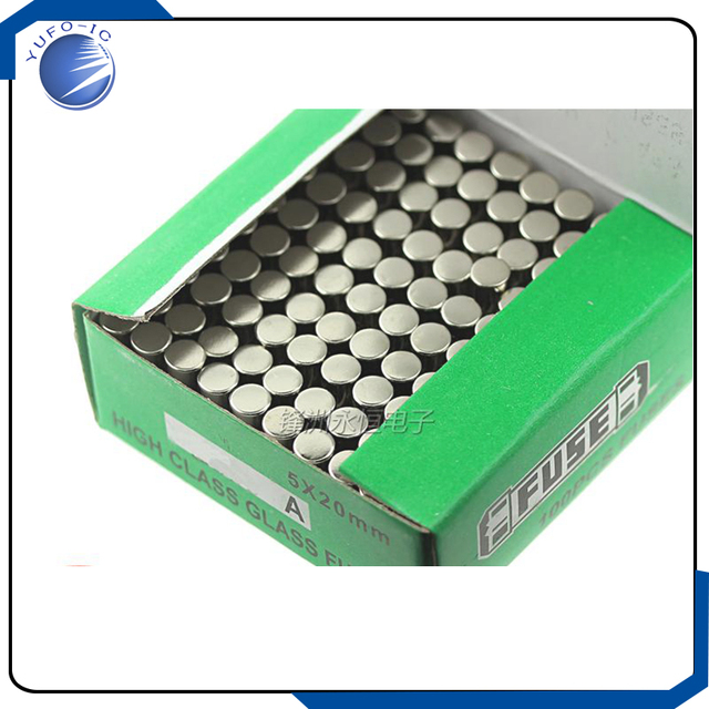 100PCS/LOT 250V315A 5*20 glass fuse box 1 box 100 250V 315A 5x20mm