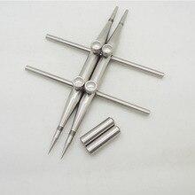 FITTEST 2 Schroef Locking Ontwerp Tip Professionele Rvs Spanner Wrench Lens Reparatie Tool Een Wees Tip & een Platte Tip