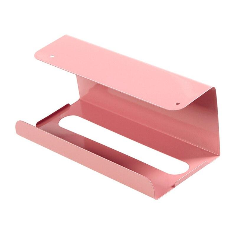 Кухня тканевый держатель для ванной комнаты бумага для органайзера держатель туалетный столик для Тип ткани для коробок съемного Бумага держатель стойки Полотенца полка - Цвет: Красный