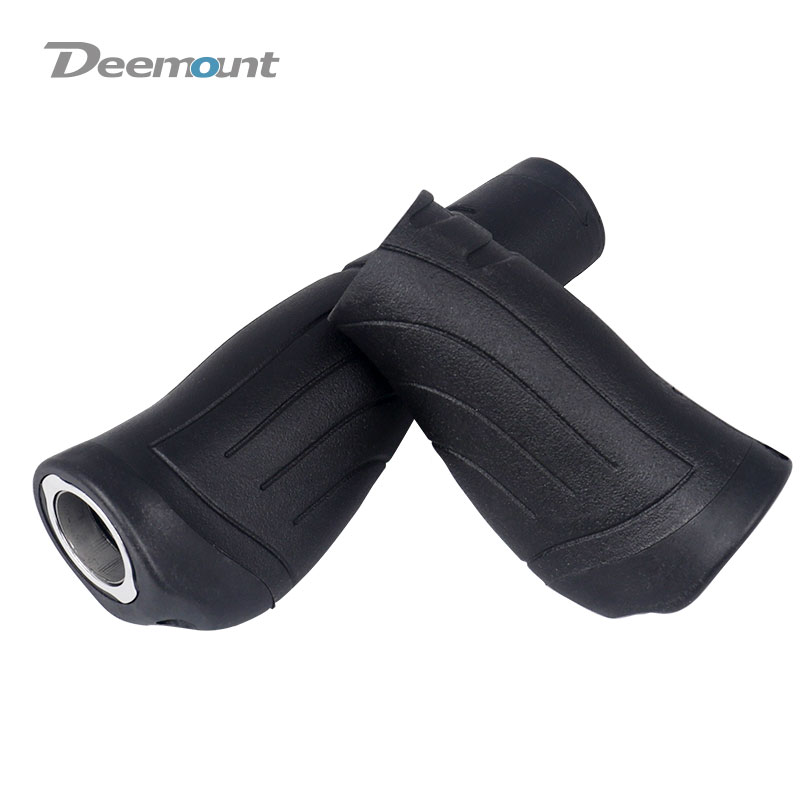Deemount Cycle Hand Grips 137/93mm Handlebar Lock Rubber Casing Sheath Ergonomic Rest Non Skid Bar End Swivel Handle P8 SP8