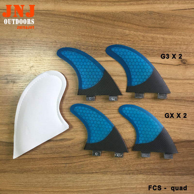 Free shipping surfboard FCS quad fins GX 2 AND G3 X 2 fitted surfboard fins fcs m g5 fins surf table surf fins with fcs g5 original bag