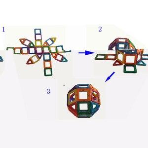 Image 4 - 32 pièces taille standard blocs de construction magnétiques modèle construction jouets brique concepteur éclairer briques jouets magnétiques