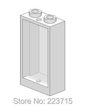 *Window 1x2x3 w. glass* 20pcs Y104 DIY enlighten block brick part No.60593 Compatible With Other Assembles Particles free shipping manor 3 diy enlighten block bricks compatible with other assembles particles