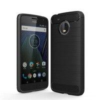 For Motorola Moto G5 Case Luxury Carbon Fiber Anti Drop TPU Soft Cover Case For Motorola