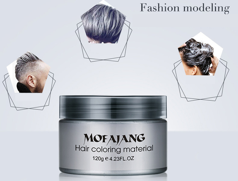 7pcs MOFAJANG Hair Color Wax Dye One time Molding Paste Seven Colors Hair Dye Wax maquillaje Make Up 120g-in Hair Color from Beauty & Health    2