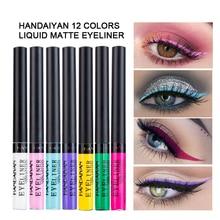 HANDAIYAN 12 Color Matte Eyeliner Eyes Makeup Waterproof Liner Pour Yeux White Blue Eye Liquid for Party Eyeshadow