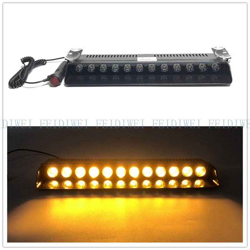 02013 12led 12w Lightbar Light Windshield Emergency Hazard Warning Strobe Beacon Split Mount Deck Dash Lamp Led Strobe Suction To Enjoy High Reputation At Home And Abroad