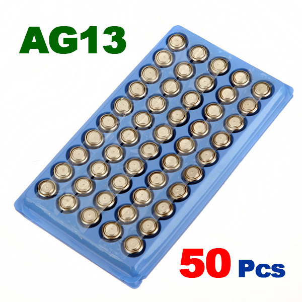 Newest Hot Sale 50Pcs 357A A76 303 LR44 SR44SW SP76 L1154 RW82 RW42 AG13 Alkaline Cell Button Battery Long Lasting 50 303 14