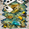 Custom Photo Wallpaper Wall Painting Wall Stickers Underwater World Mermaid Outdoor 3D 3D Floor Painting Papel