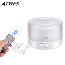 ATWFSรีโมทคอนโทรลUltrasonic Essential Oil Diffuser Air Humidifier Aroma Diffuser Fogger 7 สีLED Aromatherapy Mist Maker