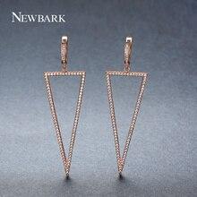 Newbark Девушка Модные серьги личности розового золота Цвет простые геометрические Треугольники Длинные Висячие серьги подарок для Для женщин изделия Brinco