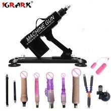 IGRARK Machine à sexe automatique rétractable, 10 accessoires, pistolet à Masturbation, vitesse réglable, jouet sexuel pour femmes