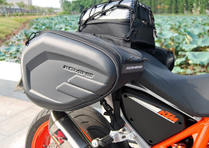 NEW Komine SA 206 motorcycle tail bag luggage suitcase around motorcycle  Rear seat bag saddle bag waterproof cover-in Leather   Saddle Bags from  Automobiles ... e0dfa87cdce09