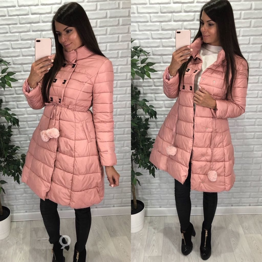 2018 Winter Snow Cotton Dresses Fashion Padded Ball Gown Women Long Coats Slim A line Women Puffer Jackets Hair Bulb Coat