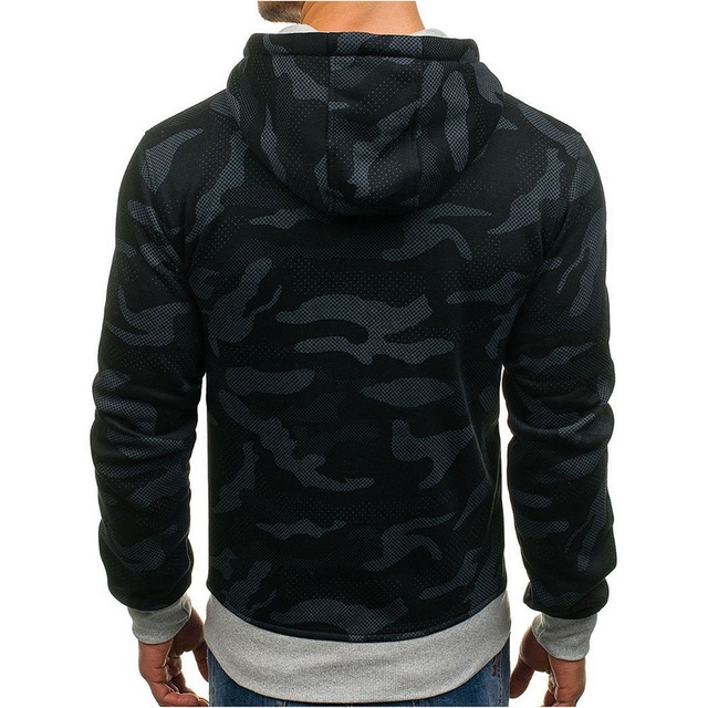 LASPERAL Camouflage Men Training Hoodie Autumn Winter  Fitness Athleisure Clothing