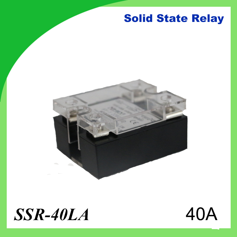 цена на 40A-SSR,input DC 4-20mA single phase ssr solid state relay SSR 40LA voltage type regulator Load current 120A for heat sink