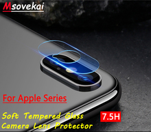 For iPhone 8 Plus For iPhone XS Max X XR For iPhone 6 6S 7 Plus 5 SE Back Camera Lens Tempered Glass Clear Screen Protector Film us flag pattern decorative pvc back protector sticker for iphone 6 plus 5 5 red deep blue
