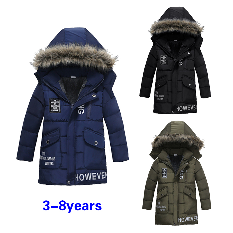 New Boys Jackets Parka Baby Outerwear childen winter jackets for Boys down Jackets Coats warm Kids baby thick cotton down new 2017 men winter black jacket parka warm coat with hood mens cotton padded jackets coats jaqueta masculina plus size nswt015