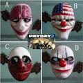 Payday 2 Halloween Máscara de Palhaço Dallas Cadeias Ornamentos Itens Engrenagem Coisas Acessórios Produtos de Fontes Do Partido Do Evento do dia de pagamento de 2 máscara