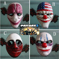 Payday 2 Halloween Mask Clown Dallas Chains Ornaments Event Party Supplies Items Gear Stuff Accessories Products pay day 2 mask