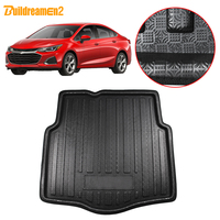 Buildreamen2 Car Tail Trunk Mat Floor Tray Boot Liner Cargo Mud Carpet Pad Styling For Chevrolet Cruze Sedan 2015 2016 2017 2018